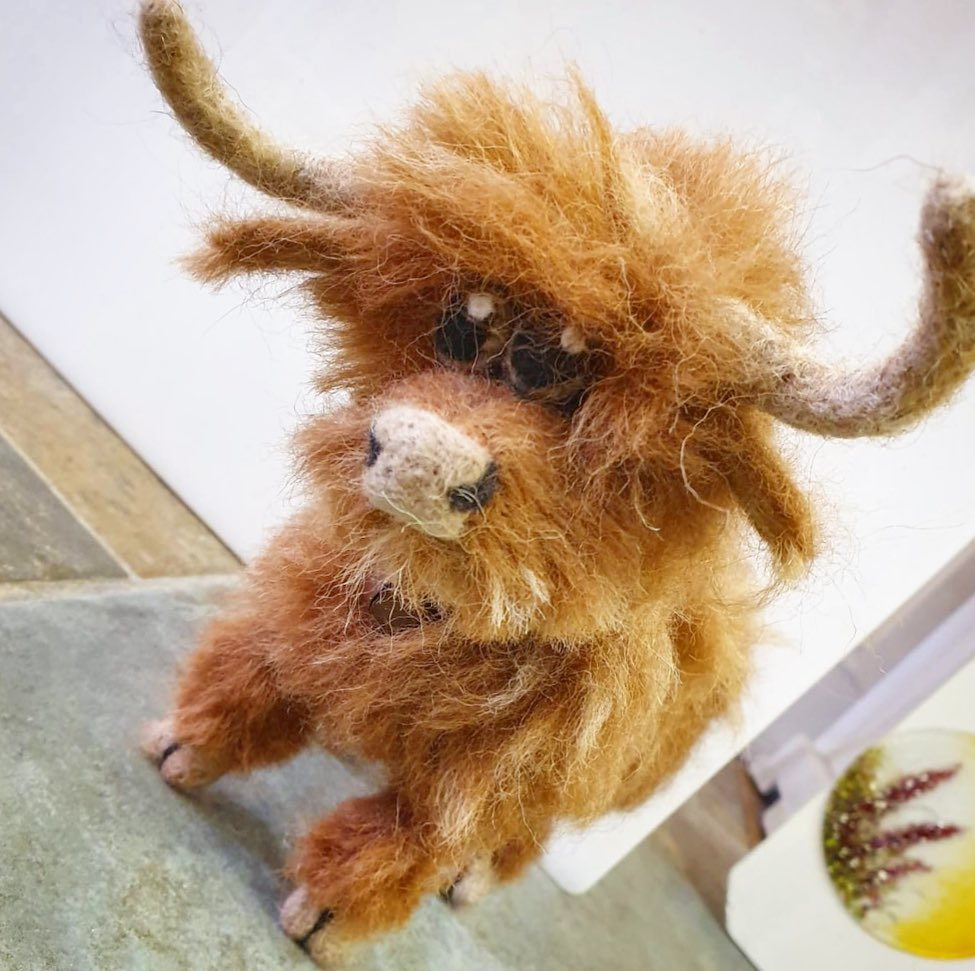 Moooove over, Night Owl Needle Felts is back!