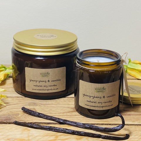 NEW Natural Soy Fragrant Candles by Essential Spirit