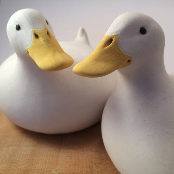 OP, Tony Gardner, Orchard Pottery, stoneware, bronze, cold cast resin, pottery, ceramics, ducks, duck sculpture