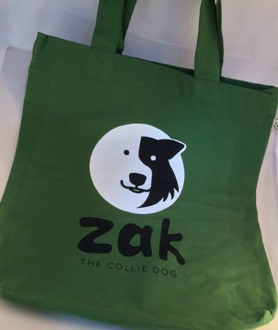 Ethical Shopper - Zak the Collie Dog Ethical Shopper Bag