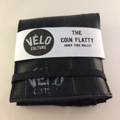 Upcycled Innertube Coin Wallet by Velo Culture