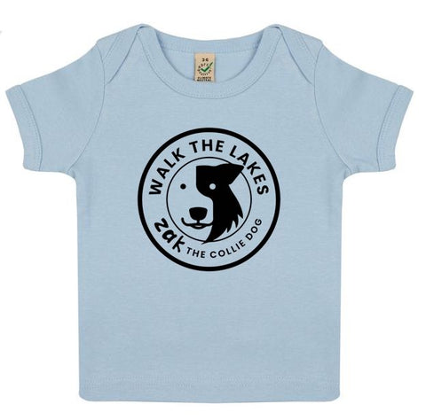 Infant T-shirt, Zak the Collie Dog - Organically Made by Earthpositive™