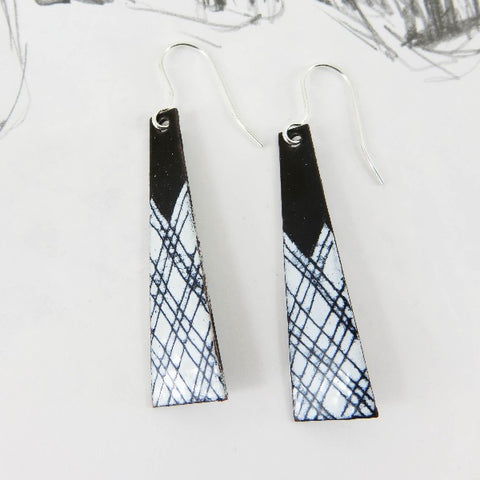 Enamel Dangle Earrings by 830 Degrees