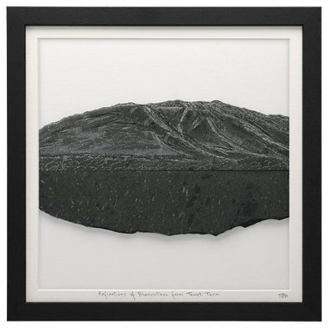 Slate Mountains from Mountain Slate (Framed in Black) by Terry Hawkins of Loving Slate
