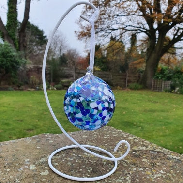 Hand blown Christmas Baubles  by Jess Davids Glass
