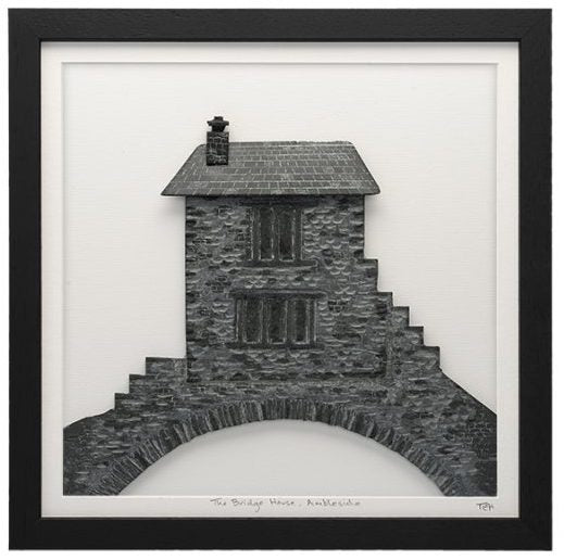 Framed Lakeland Slate Bridge House - Lakeland Slate Artwork by Terry Hawkins