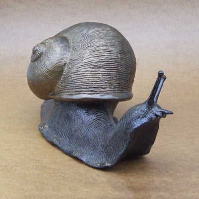 Bronze Snail 'Charlie Cabbage' by Orchard Pottery