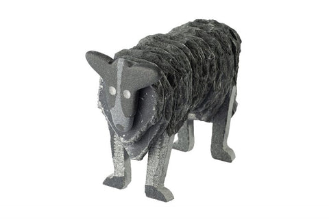 Lakeland Slate Border Collie Sculpture - Lakeland Slate Artwork by Terry Hawkins