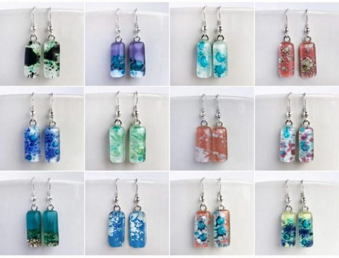 Glass Drop Earrings by Colette Halstead