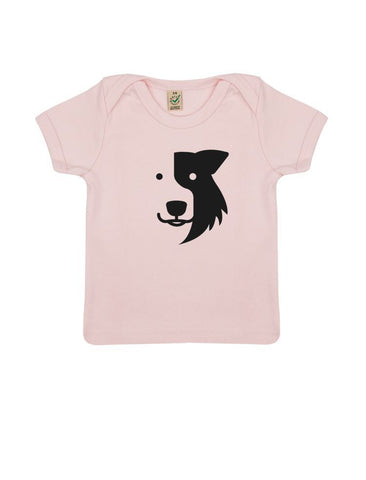 A Zak the Collie Dog Infant T-shirt, Organically Made by Earthpositive™