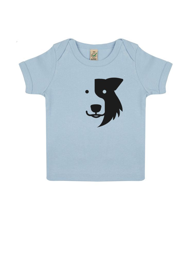 6ff36a562 A Zak the Collie Dog Infant T-shirt, Organically Made by Earthpositive –  Cherrydidi