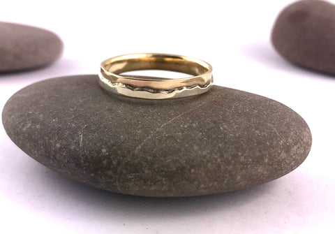 Silver & Gold Mountain Rings - Skiddaw or The Langdales  (4 or 6mm width) - 9ct Gold  & Stirling Silver by Brightstar109