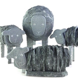 Lakeland Slate Herdwick Ewe & Lamb Sculptures - Lakeland Slate Artwork by Loving Slate