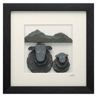 Framed Lakeland Slate Sheep - Lakeland Slate Artwork by Loving Slate