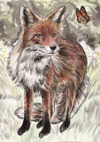 IB, Gina Andrews, InkBison, indian ink, inks, painting, pets, prints, animal, fox