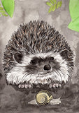 IB, Gina Andrews, InkBison, indian ink, inks, painting, pets, prints, animal, hedgehog