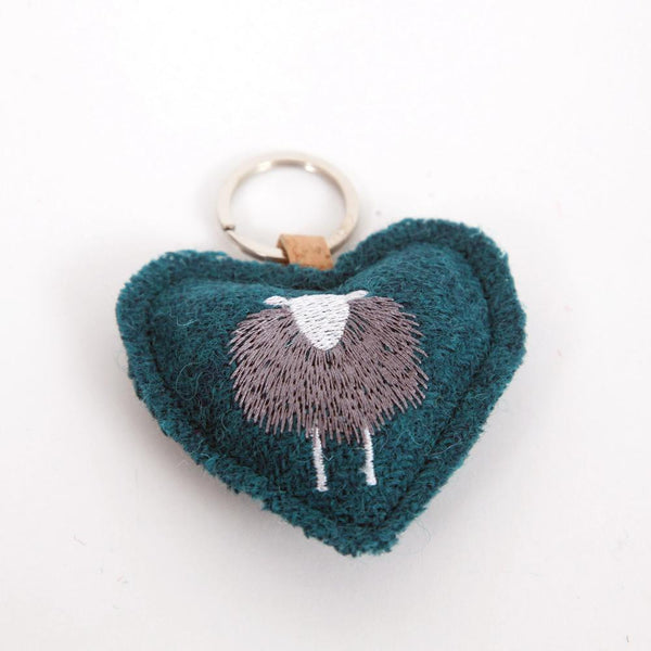 Key Fob - Herdwick Embroidered on Harris Tweed