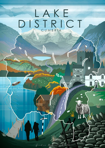 Graham McKenzie Smith Lake District posters