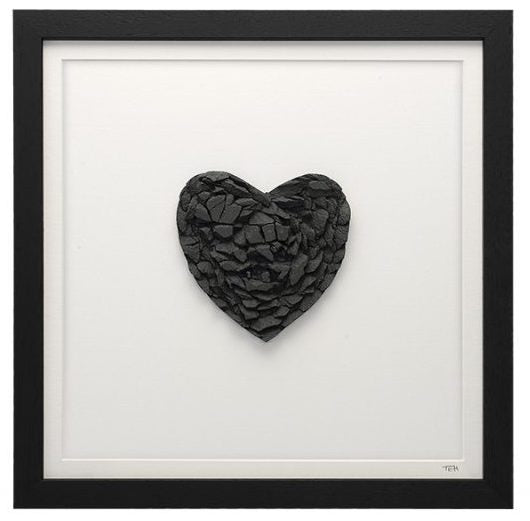 Framed Lakeland Slate Heart - Lakeland Slate Artwork by Terry Hawkins