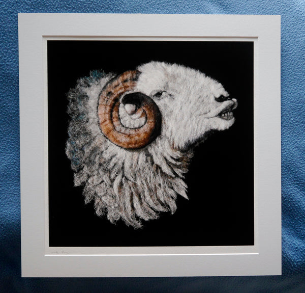 Fine Art Print of 'Love is in the Air' - an Original Wool Painting by Fell View Felting