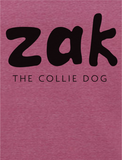 Women's T-shirt - Zak the Collie Dog 'Earth Positive' Ethical Cotton
