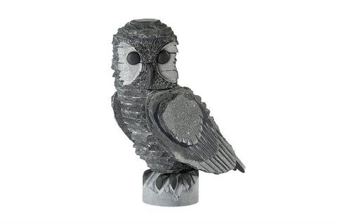 Lakeland Slate Owl Sculpture - Lakeland Slate Artwork by Terry Hawkins