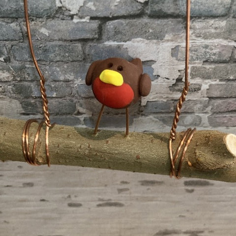 Chubby Robin on a Branch by Jo's Little People