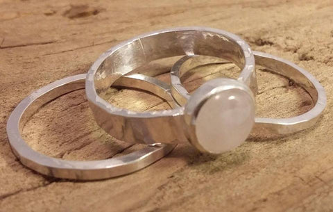 JHC, Jeannie Heeley-Creed, Jeannie Heeley-Creed, jewellery, silverware, handmade, beautiful, sterling silver, rose quartz, ring