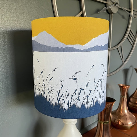 'Across Grasmere Lampshade' - handmade - from Lake District Landscapes by Sam Martin Art