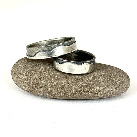 SKIDDAW Mountain Ring - Silver (3, 4 or 6mm width) - Sterling silver by Brightstar109