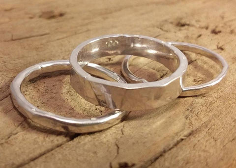 Handmade Sterling Silver Stacking Ring Set by Jeannie Heeley-Creed