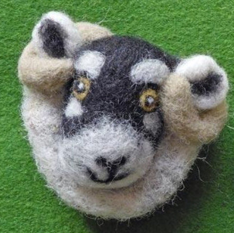 Sheep Brooches - Needle Felted by Fell View Felting