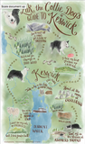 A Zak the Collie Dog Guide to Keswick Tea Towel