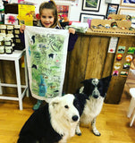 Zak the Collie Dog Guide to Keswick Tea Towel