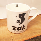 Zak, Zak the Collie Dog, Giftware, Cherrydidi, Cumbria, Lake District, Keswick, Face of the Lakes, mug, original