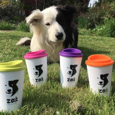 Refillable Zak the Collie Dog Mug