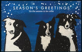 Zak the Collie Dog Christmas Card - 'tis the season to be collie