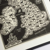 Dogs of the British Isles - Limited Edition Linoprint (Framed)