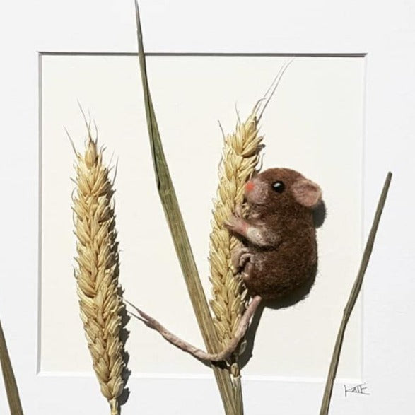 Needle Felted Mouse by Kate Boulter Felt Art & Embroidery