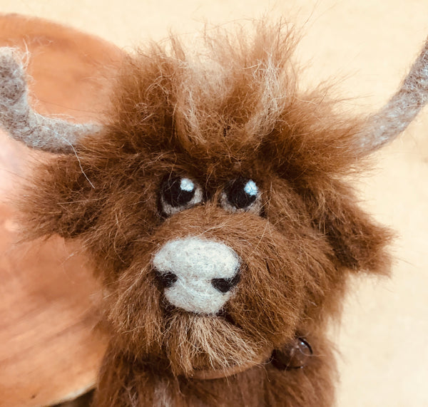 Highland Cow by Night Owl Needle Felts