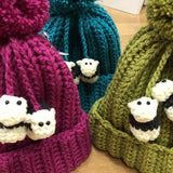 Herdy Hats - British wool, hand crocheted by Mavis Plant Fibre Artist