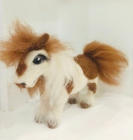 Mixed Shetland Pony - needle-felted by Night Owl Needle Felts