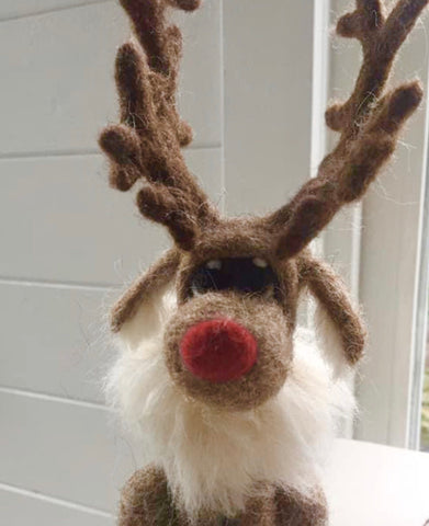 Reindeer - needle-felted by Night Owl Needle Felts