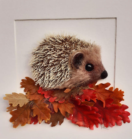 Hedgehog - needle felted by Kate Boulter Felt Art & Embroidery