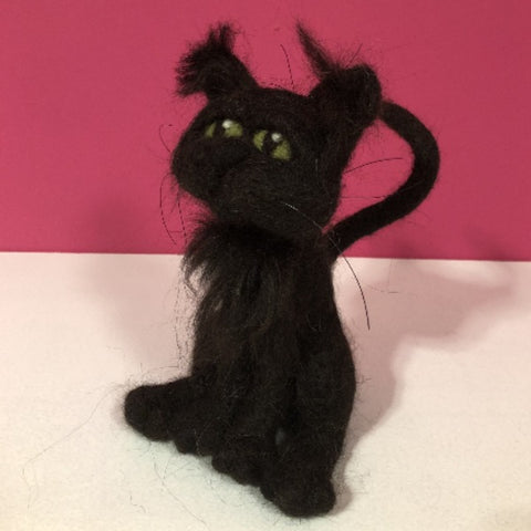 Black Cat by Night Owl Needle Felts