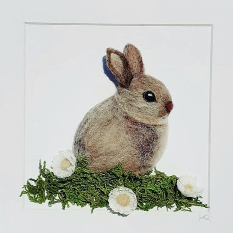 Needle felted Rabbit by Kate Boulter Felt Art & Embroidery