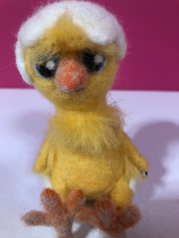Chick - needle-felted by Night Owl Needle Felts