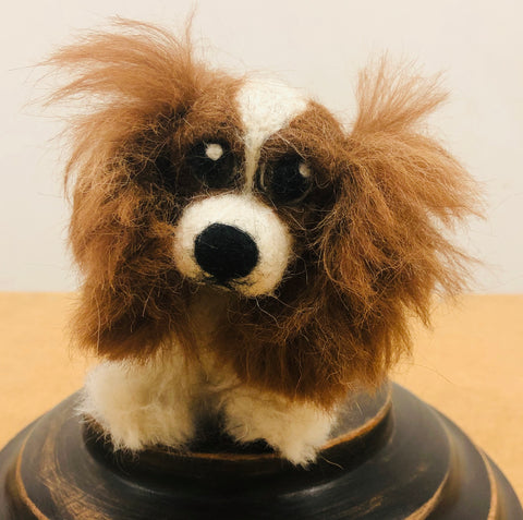 Cavalier King Charles - needle-felted by Night Owl Needle Felts