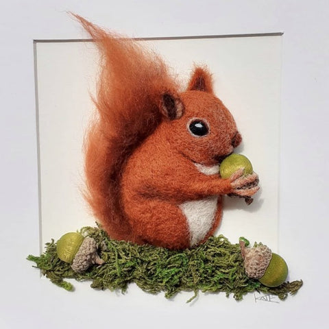 Needle felted Squirrel by Kate Boulter Felt Art & Embroidery