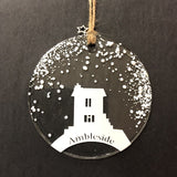 Winter Collection Hanging Decoration Glass by Colette Halstead